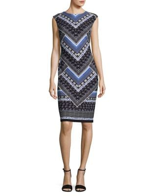 Patterned Sheath Dress by Calvin Klein Plus