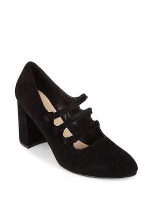 Emery Suede Mary Jane Pumps by IMNYC Isaac Mizrahi