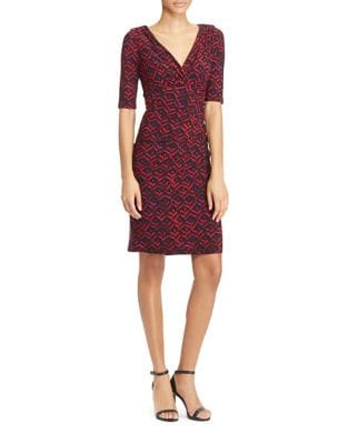 Short Sleeve Printed Jersey Dress by Lauren Ralph Lauren