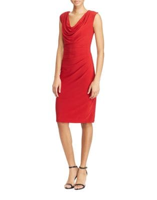 Petite Cap Sleeve Jersey Dress by Lauren Ralph Lauren