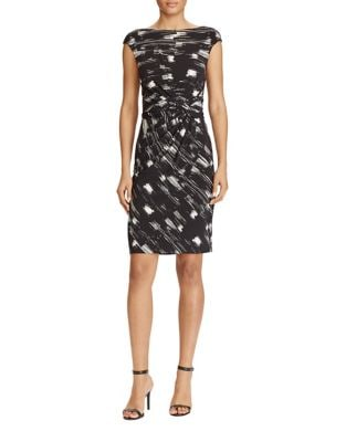 Printed Jersey Sheath Dress by Lauren Ralph Lauren