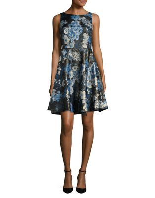 Petite Floral Fit-and-Flare Dress by Tahari Arthur S. Levine