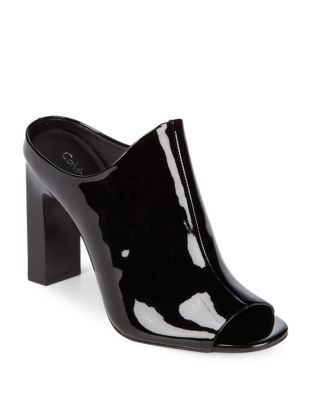Maera Patent Leather Mule by Calvin Klein