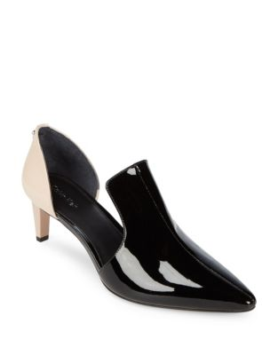 Nettle Two-Tone Patent Leather Heels by Calvin Klein