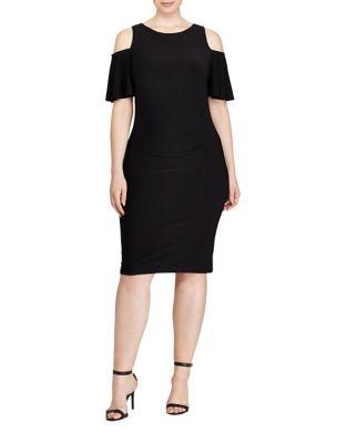 Jersey Cold Shoulder Dress by Lauren Ralph Lauren