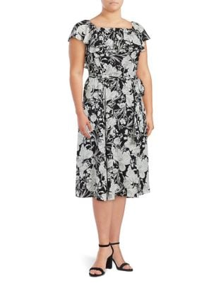 Plus Floral Off-the-Shoulder Dress by Ivanka Trump