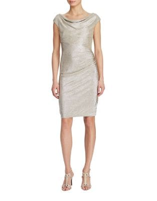 Metallic Cowlneck Dress by Lauren Ralph Lauren