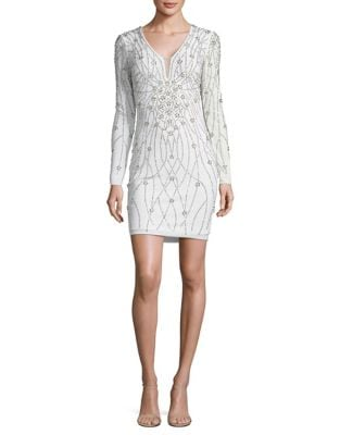 Long Sleeved Embellished Cocktail Dress by Xscape