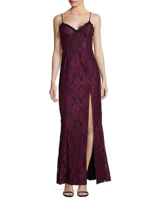 Lace Overlay Gown by Xscape