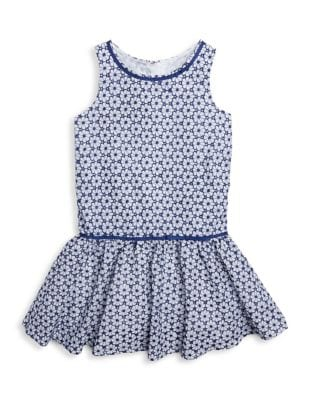 Little Girls Floral Sleeveless Dress