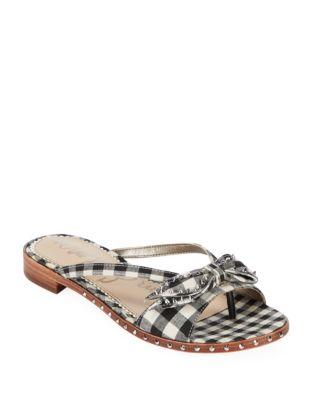Plaid Studded Sandals by Sam Edelman