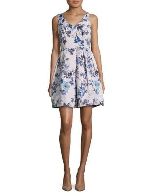 Floral Fit-&-Flare Party Dress by Taylor