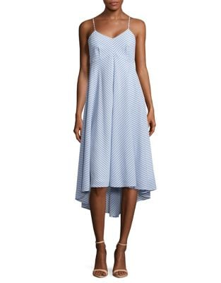Striped High-Low Dress by Taylor