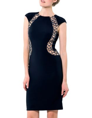 Embellished Roundneck Dress by Glamour by Terani Couture