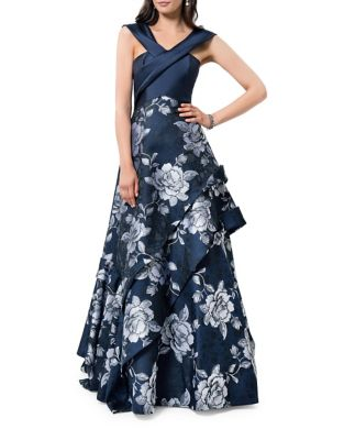 Floral Layered Dress by Glamour by Terani Couture