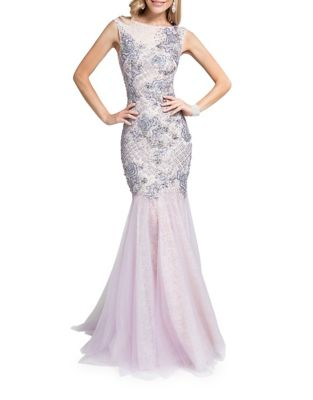 Bateauneck Sleeveless Dress by Glamour by Terani Couture