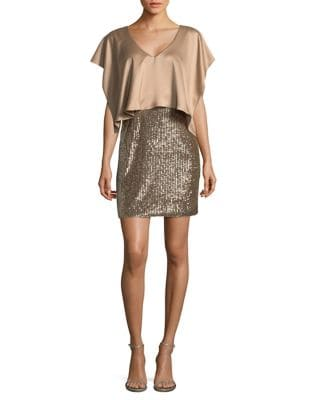 Popover Sequined Skirt Dress by Aidan Aidan Mattox