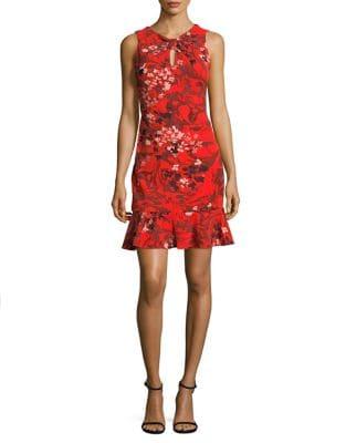 Ruffle Hem Sheath Dress by Taylor