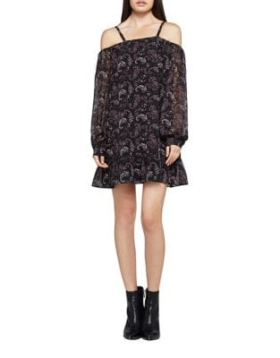 Paisley Cold Shoulder Dress by BCBGeneration