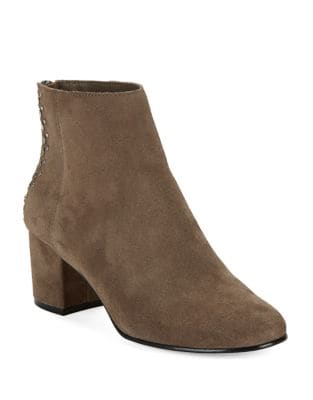 Esme Studded Suede Ankle Boots by 424 Fifth