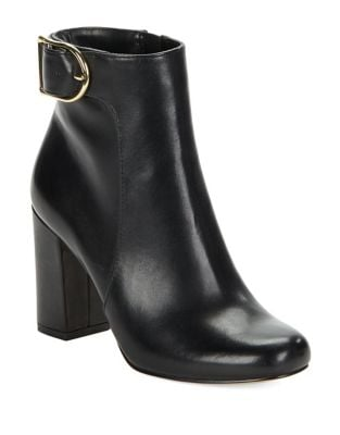 Gwyneth Leather Ankle Boots by 424 Fifth