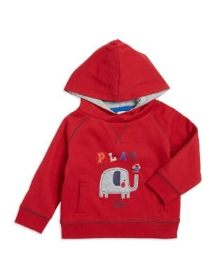 Baby Boys Elephant Accented Hoodie