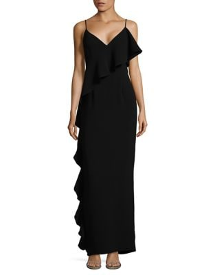 Photo of Rachel Zoe Sleeveless Ruffled Gown