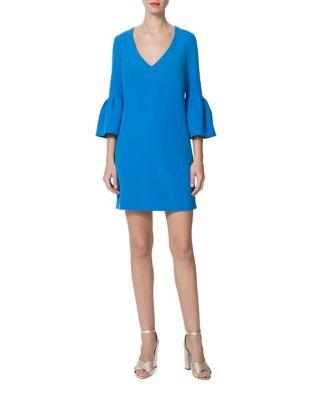 Ruffled V-Neck Dress by Donna Morgan