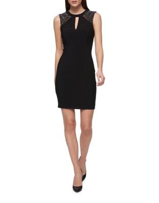 Mesh Detail Sheath Dress by Guess