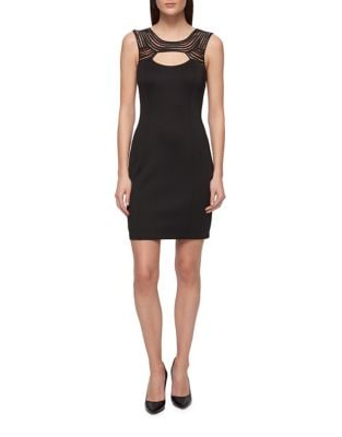 Lacy Neckline Sheath Dress by Guess