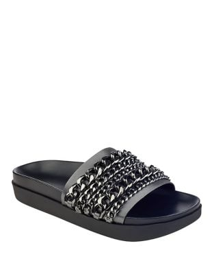 Photo of Shiloh Open Toe Slides by KENDALL + KYLIE - shop KENDALL + KYLIE shoes sales