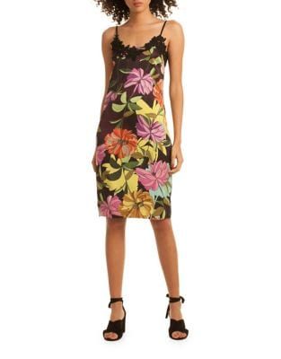 Floral Print Lace Dress by Trina Turk