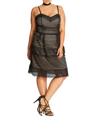 Plus Spaghetti Strap Cutout Dress by City Chic