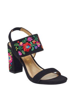 Orinda Floral Suede Slingback Sandals by Anne Klein