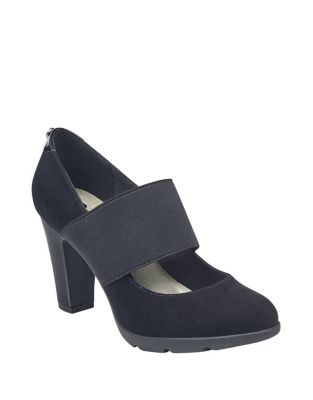 Xin Microsuede Mary Jane Pumps by Anne Klein