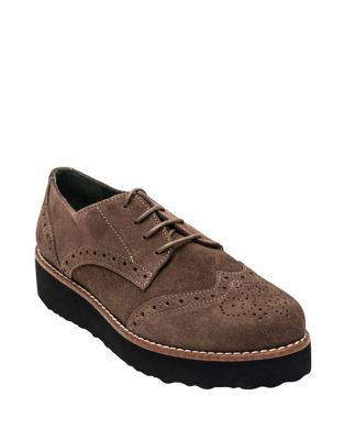 Tate Suede Platform Oxfords by Andre Assous