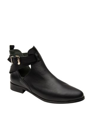Taissa Leather Booties by Andre Assous