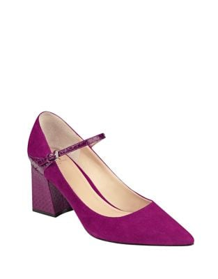 Zullys Suede Pointed Toe Pumps by Marc Fisher LTD