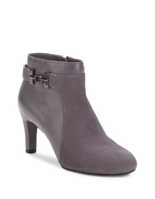 Lappo Almond Toe Suede Booties by Bandolino