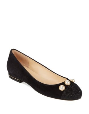 Jaici Embellished Suede Flats by Ivanka Trump