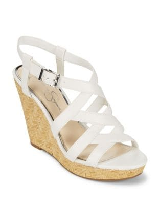 Crisscross Wedge Sandals by Jessica Simpson