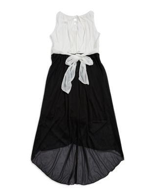Girls Embroidered HiLo Dress