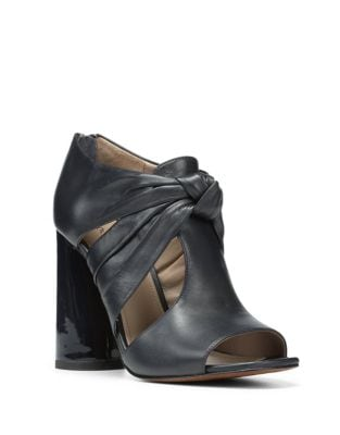 Bailey Leather Peep Toe Booties by Donald J Pliner
