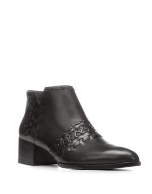 Bowery Leather Booties by Donald J Pliner