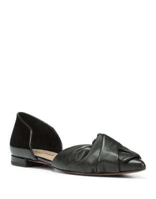Pennie Leather D'Orsay Flats by Donald J Pliner
