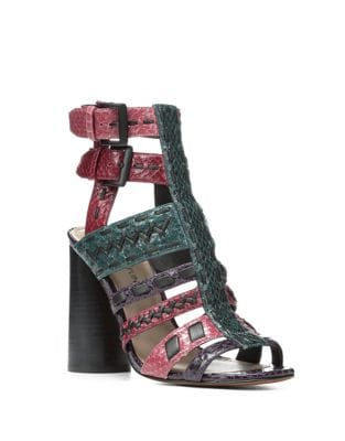 Bindy Leather Caged Sandals...