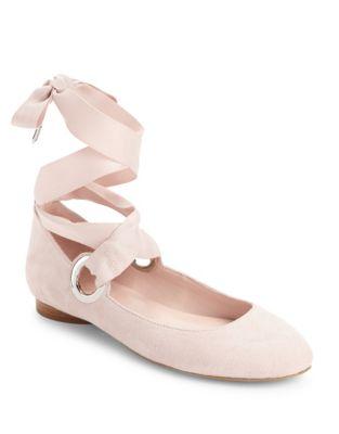 Miri Suede Ballet Flats by Avec Les Filles