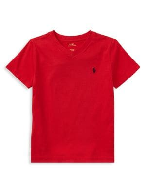 Little Boys Jersey Cotton VNeck Tee