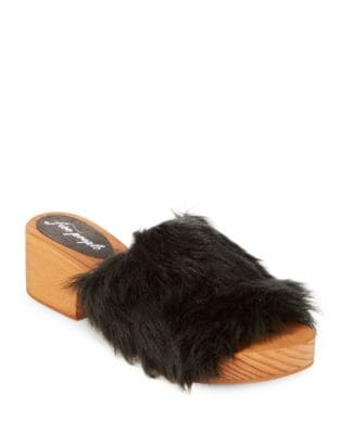 Sonnet Faux Fur Mules by Free People