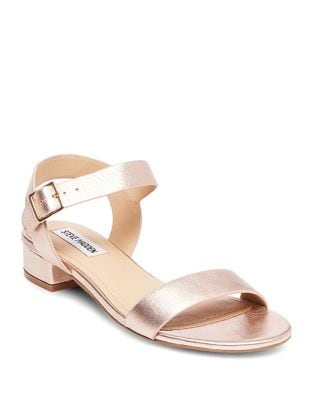 Cash Leather Block Heel Sandals by Steve Madden